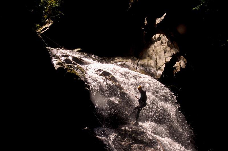 Canyon dans le Haut Piemont Italien