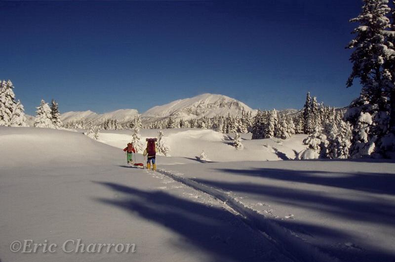 Ski de randonnée nordique sur les hauts plateaux du vercors
