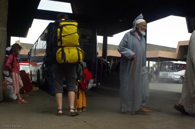 Gare routière à Marakech
