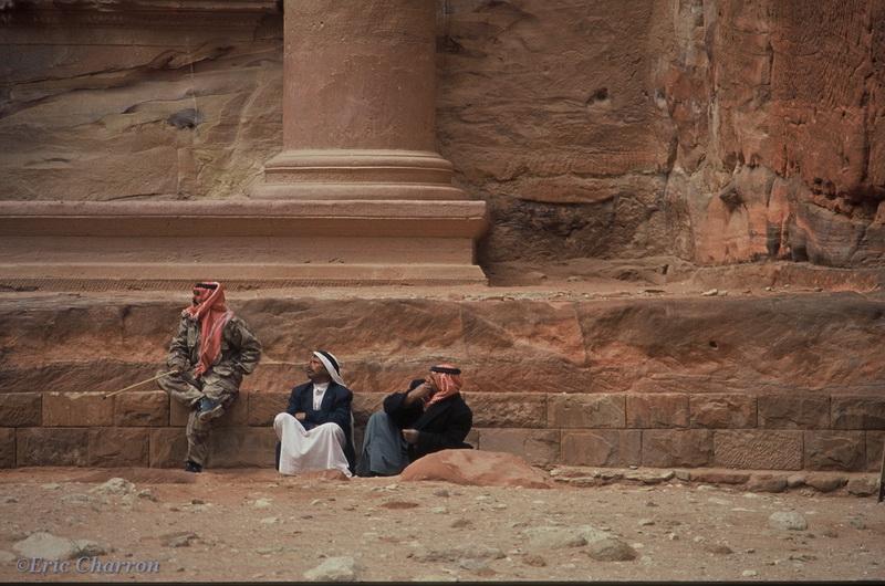 Bédouins à Pétra Jordanie